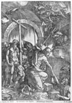 The descent of Christ into Limbo, from 'The Great Passion' series, 1510 (woodcut) (b/w photo) Wall Art & Canvas Prints by Albrecht Dürer or Duerer