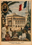 The Malagasy Pavilion at the Universal Exhibition of 1900, Paris, illustration from 'Le Petit Journal', 1st April 1900 Fine Art Print by French School