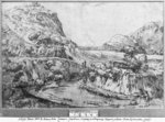 Mountainous landscape (pen & ink on paper) (b/w photo) Postcards, Greetings Cards, Art Prints, Canvas, Framed Pictures & Wall Art by Pieter the Elder Bruegel