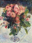 Moss-Roses, c.1890 (oil on canvas) Wall Art & Canvas Prints by Albert Williams
