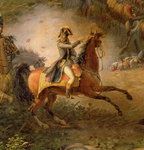 The Battle of Marengo, detail of Napoleon Bonaparte Fine Art Print by Louis Lejeune