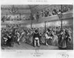 La Courtille, popular dance, engraved by Yves (19th century) (litho) (b/w photo) Fine Art Print by French School