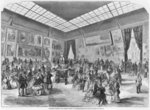 Salon of painting and sculpture of 1857, the main room in the Palais de l'Industrie gallery, Paris, 1857 Fine Art Print by Giovanni Paolo Pannini or Panini
