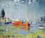 Argenteuil, 1875 (oil on canvas) (also see 19111) Postcards, Greetings Cards, Art Prints, Canvas, Framed Pictures, T-shirts & Wall Art by Paul Signac