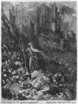 The Wandering Jew, engraved by Felix Jean Gauchard (1825-72) (engraving) (b/w photo) Wall Art & Canvas Prints by Gustave Dore
