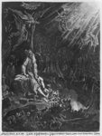 The Wandering Jew and the Last Judgement, engraved by Felix Jean Gauchard (1825-72) (engraving) (b/w photo)