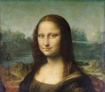 Mona Lisa, c.1503-6 (oil on panel) (detail of 3179) Fine Art Print by Leonardo da Vinci