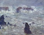 Storm, off the Coast of Belle-Ile, 1886 Fine Art Print by Claude Monet