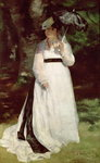 Portrait of Lise, 1867 (oil on canvas) Fine Art Print by Pierre Auguste Renoir