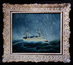 The storm-tossed vessel, c.1899 (oil on canvas) (see also 19141) Postcards, Greetings Cards, Art Prints, Canvas, Framed Pictures, T-shirts & Wall Art by John S. Smith