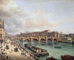 View of Pont Neuf, 1832 Fine Art Print by Etienne Bouhot