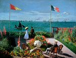 The Terrace at Sainte-Adresse, 1867 (oil on canvas) Wall Art & Canvas Prints by Max Ferguson