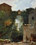 The Falls of Tivoli (oil on canvas) Postcards, Greetings Cards, Art Prints, Canvas, Framed Pictures & Wall Art by Nikolai Konstantinovich Rerikh