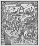 July, haymaking, Cancer, illustration from the 'Almanach des Bergers', 1491 (xylograph) (b/w photo) Wall Art & Canvas Prints by Jacopo Bassano