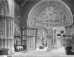 12th century room, Musee de Sculpture comparee, future Musee des Monuments Francais, c.1905 Fine Art Print by Willem Romeyn
