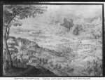 Landscape (pen & ink on paper) Postcards, Greetings Cards, Art Prints, Canvas, Framed Pictures, T-shirts & Wall Art by Pieter the Elder Bruegel