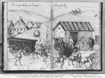 Silver mine of La Croix-aux-Mines, Lorraine, fol.5v and fol.6r, transporting and delivering coal for the forges, c.1530 (pen & ink & w/c on paper) (b/w photo) Wall Art & Canvas Prints by Pieter the Elder Bruegel