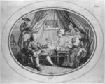 The Luncheon at Ferney, 4th July 1775 Fine Art Print by French School