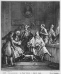 The Small Toilette, engraved by Pietro Antonio Martini (1739-97) (engraving) (b/w photo) Fine Art Print by Jean Michel the Younger Moreau
