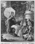 The delights of motherhood, engraved by Isidore Stanislas Helman Fine Art Print by Daniel Clarke