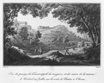 View of the torrent known as La Sanguese and the ruins of the house of Abelard at the Pallet, on the road from Clisson to Nantes, illustration from 'Voyage pittoresque dans le bocage de la Vendee ou vues de Clisson et de ses environs', 1817 Fine Art Print by Michael Rooker