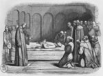 Death of Abelard, illustration from 'Lettres d'Heloise et d'Abelard', 1839 (engraving) Postcards, Greetings Cards, Art Prints, Canvas, Framed Pictures, T-shirts & Wall Art by American School
