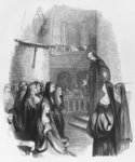 Abelard preaching at Paraclete, illustration from 'Lettres d'Heloise et d'Abelard', 1839 (engraving) (b/w photo) Wall Art & Canvas Prints by Egbert van the Elder Heemskerk