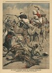 French troops in Sahara, illustration from 'Le Petit Journal', supplement illustre, 17th March 1907 Fine Art Print by Samuel Wale