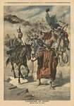 Anarchy in Morocco, plundering between tribes, illustration from 'Le Petit Journal', supplement illustre, 24th November 1907 Fine Art Print by French School
