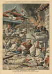 Unrest in Seoul, Korea, illustration from 'Le Petit Journal', supplement illustre, 4th August 1907 (colour litho) Postcards, Greetings Cards, Art Prints, Canvas, Framed Pictures, T-shirts & Wall Art by Denis-Auguste-Marie Raffet