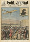 The aviator Alfred Leblanc arriving in Issy-les-Moulineaux, illustration from 'Le Petit Journal', supplement illustre, 28th August 1910 (colour litho) Wall Art & Canvas Prints by Franz W. Seiwert