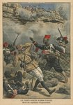 Ambush at Abir-Taouil, death of Captain Fiegenschuh, illustration from 'Le Petit Journal', supplement illustre, 6th March 1910 Fine Art Print by F. Ralambo