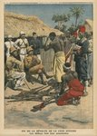 End of the revolt of the Cote d'Ivoire, the Abbeys surrendering to commander Nogues, illustration from 'Le Petit Journal', supplement illustre, 15th May 1910 Fine Art Print by F. Ralambo