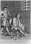 Francois Ravaillac, the assassin of King Henri IV, in prison (engraving) (b/w photo) Fine Art Print by Antoine Charles Horace Vernet