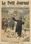 A Parisian type, the bird charmer of the Tuileries, illustration from 'Le Petit Journal', supplement illustre, 22nd January 1911 (colour litho) Wall Art & Canvas Prints by Pierre Lelu