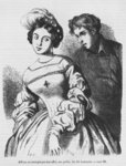 Etienne Lousteau speaking to an actress, illustration from 'Les Illusions perdues' by Honore de Balzac Fine Art Print by Jean Raymond Hippolyte Lazerges