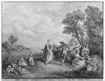 The pleasures of the countryside (engraving) Fine Art Print by English Photographer