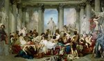 The Romans of the Decadence, 1847 (oil on canvas) Fine Art Print by Thomas Couture