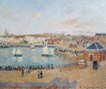 The Outer Harbour at Dieppe, 1902 (oil on canvas) Fine Art Print by Pierre-Auguste Renoir