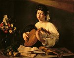The Lute Player, c.1595 (oil on canvas) Postcards, Greetings Cards, Art Prints, Canvas, Framed Pictures, T-shirts & Wall Art by Michelangelo Merisi da Caravaggio