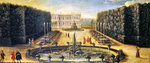 The Water Alley and the Dragon Fountain, Versailles (oil on canvas) Wall Art & Canvas Prints by Peter Nicholls
