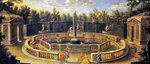 The Bosquet des Domes at Versailles (oil on canvas) Fine Art Print by Pahari School