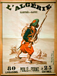 Bookshop poster advertising a series of publications on Algeria, 1843 (colour litho) Postcards, Greetings Cards, Art Prints, Canvas, Framed Pictures, T-shirts & Wall Art by French School