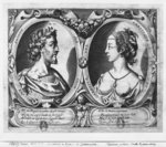 Pierre de Ronsard, aged 27 and Cassandre Salviati (engraving) (b/w photo) Fine Art Print by French School
