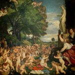 The Worship of Venus, 1519 (oil on canvas) Wall Art & Canvas Prints by Titian