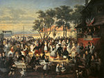 A Fete at Saint-Cloud c. 1860 Fine Art Print by French School
