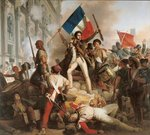 Fighting at the Hotel de Ville, 28th July 1830, 1833 Fine Art Print by Robert Alexander Hillingford