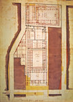 Plan of the Grande and Petite Force prison, rue du Roi de Sicile, Paris (ink & wash on paper)