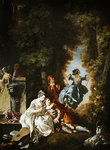 The Swing (oil on canvas) Fine Art Print by Peter Paul Rubens