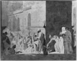 Homer reciting his poems, 1794 (pen & black ink & graphite & grey wash & red chalk on paper) Wall Art & Canvas Prints by Clive Uptton